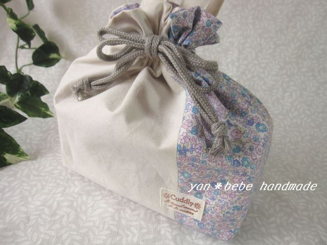 撥水シューズ袋◆リバティ風小花プリント