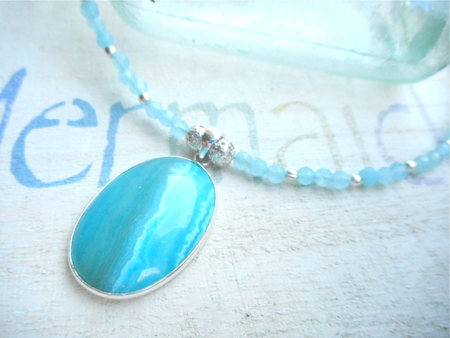 Sea Shore Agate Necklace