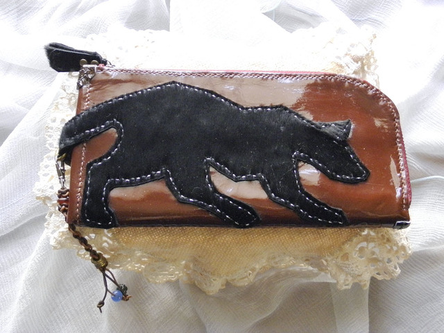 本革製  WALLET panther