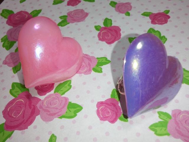 ★イヤリング★ハート★ピンク★紫★シルバー★