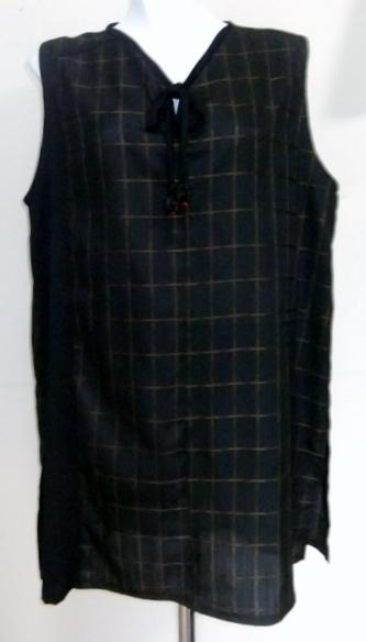 正絹の着物で作ったロングベスト 107