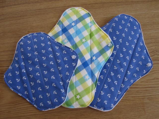 布ナプキン ブルー系 3枚セット
