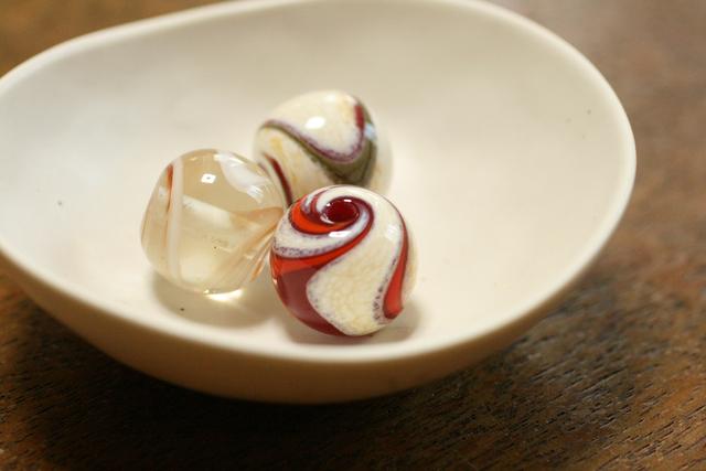 3個セット glass beads (とんぼ玉)流紋3