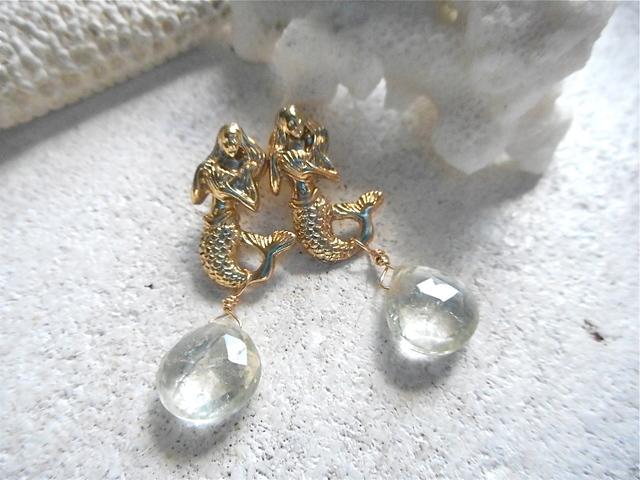 ☆再販☆ Mermaid with gems <green amethyst>