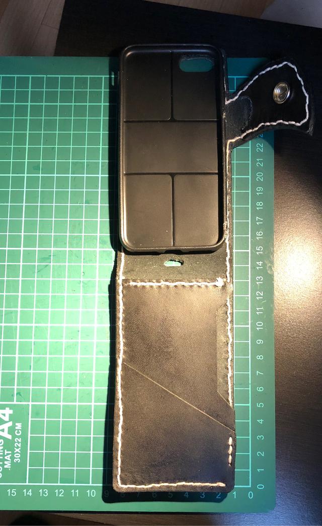 e1bbc35646 本革レザー縦開きスマホカバー スマホケース | ハンドメイドマーケット minne