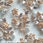 追記あり  import parts metal flower ② 4pcs