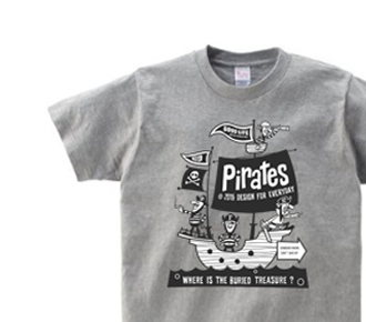 海?賊?船  150.160.(女性M.L) S〜XL Tシャツ【受注生産品】