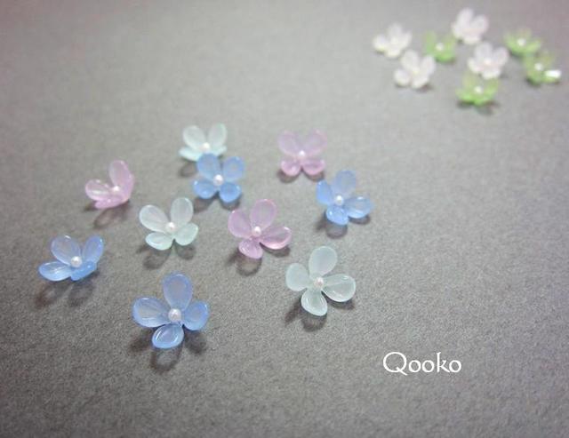 硝子の紫陽花