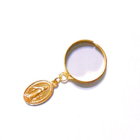 聖母マリア様金色リング指輪