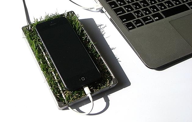 """緑(グリーン)の芝(植物)のスマホ(iPhone/Android)スタンド""""midori-SA"""""""