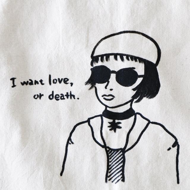 トートバッグ私が欲しいのは愛か死マチルダトートバッグ