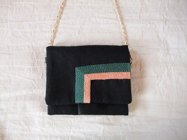 itoiro petit pochette (green/pink)