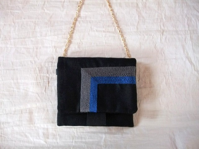 itoiro petit pochette (gray/blue)