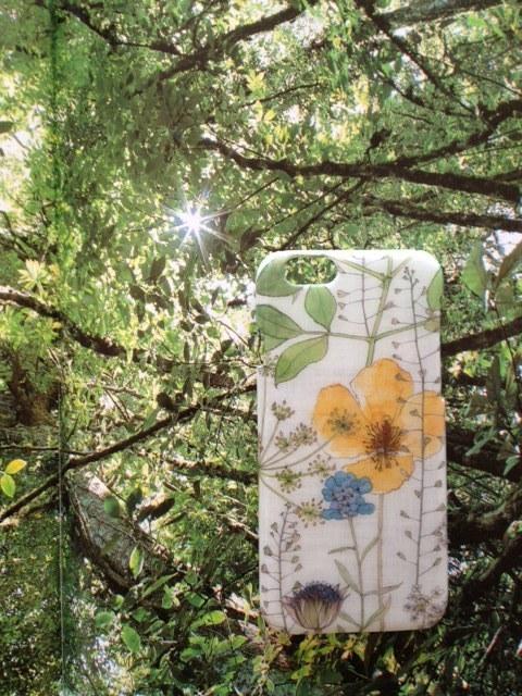 光の森 リバティ iphone6 6Sケース(イルマ イエロー)
