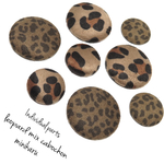 キャンセル分再販。 8pcs) leopard mix cabochon