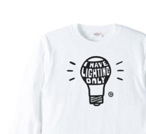 電球〜I HAVE LIGHTING ONLY〜 長袖Tシャツ【受注生産品】