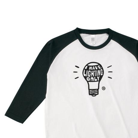 電球〜I HAVE LIGHTING ONLY〜 ラグラン 3/4スリーブ Tシャツ【受注生産品】