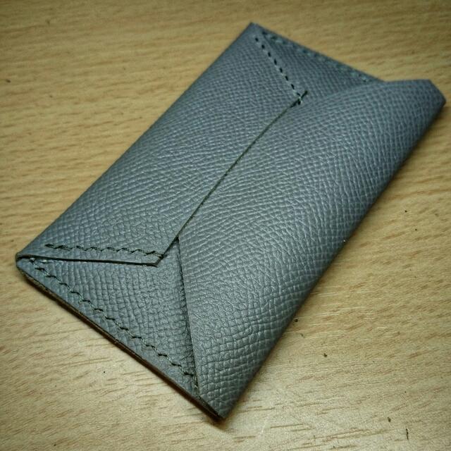 promo code 3da54 72f93 フランス皮革 名刺入れ カードケース ヴォー・エプソン エルメス使用革