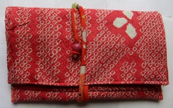 絞りの羽織で作った和風お財布 126