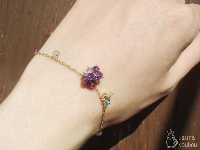 紫陽花ブレスレット