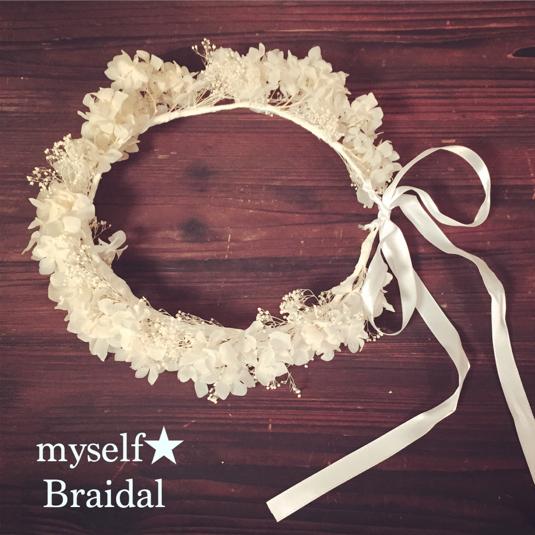 Bridal プリザーブドフラワーの花冠