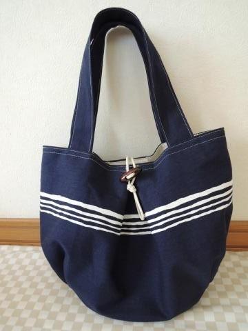 プリーツバッグ*紺色