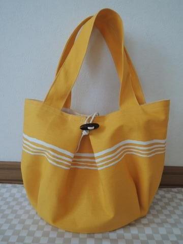 プリーツバッグ*黄色