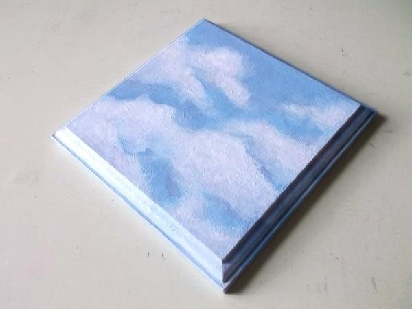 飾り台-青い空と白い雲