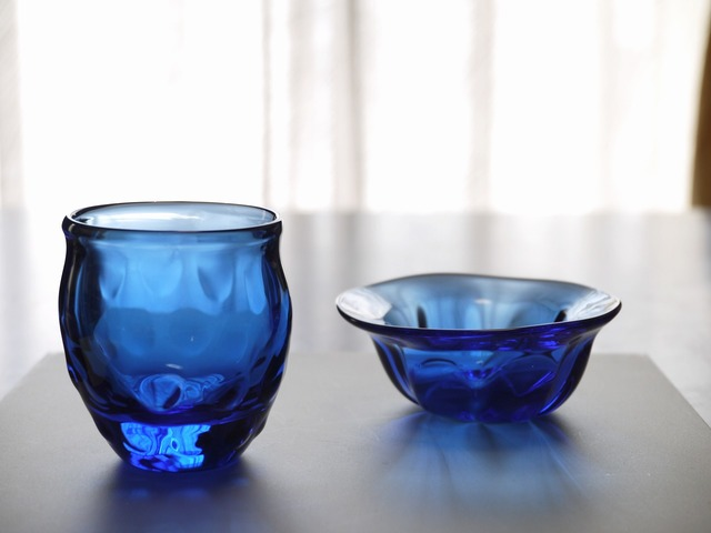 青の時間 II(ぐい飲み&ナッツ皿)