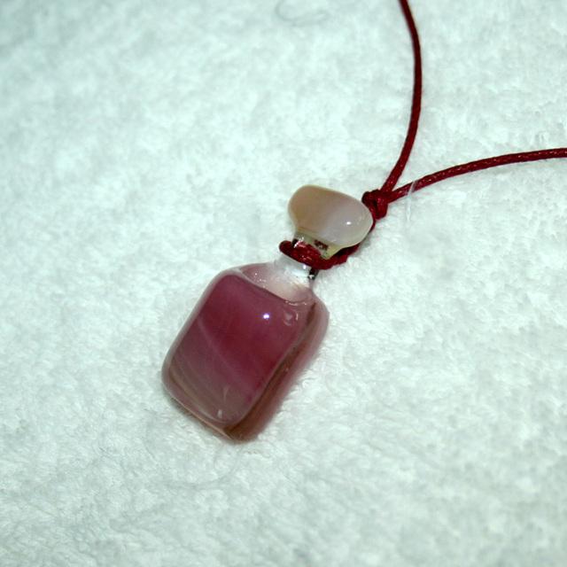 ネックレス  アロマの小瓶 ピンク No,1712