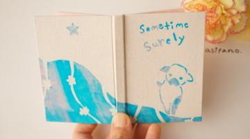 「いつかきっと・夢見る子羊」型染め手帳