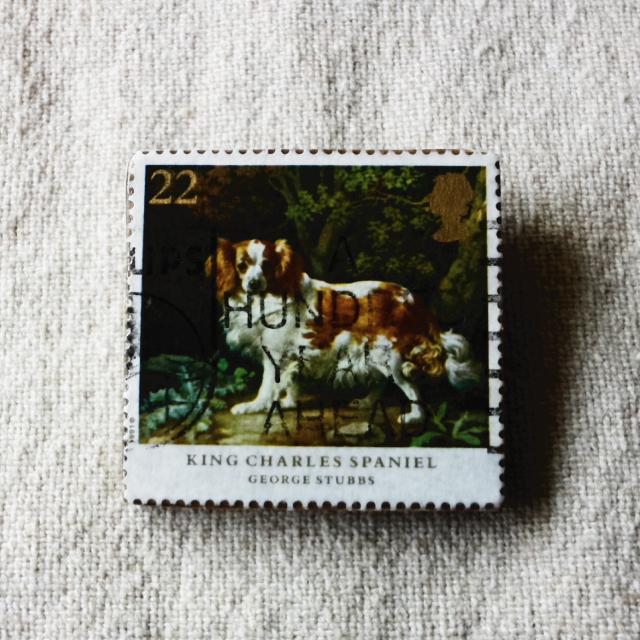 イギリスの切手ブローチ No.1
