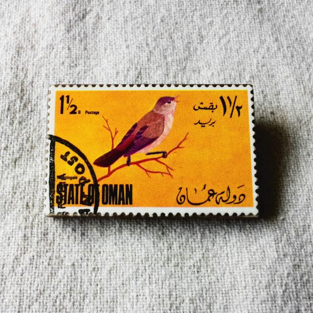 オマーンの切手ブローチ No.1