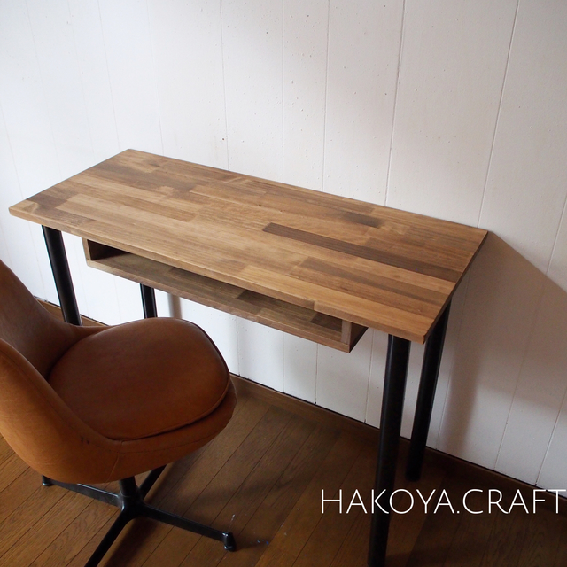 65 work desk 棚付き 90 40 組立工具不要 アイアン デスク 机 テーブル