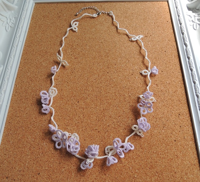 つる花ネックレス(LPu×W)