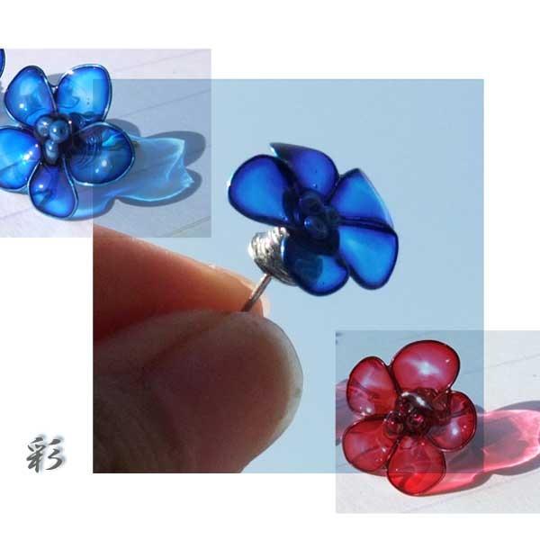 選べるcolor赤と青★ピアス★ミニミニサ...