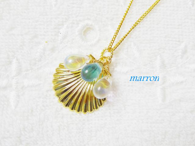 ゜○。shell&dropネックレス。○゜
