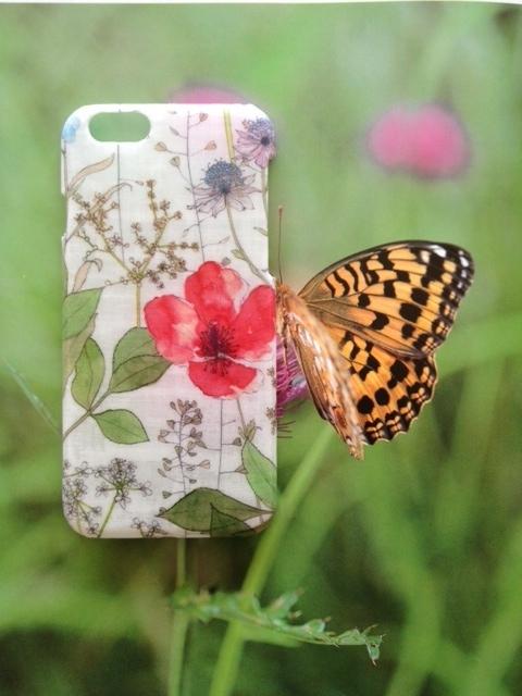リバティ iphone6 6Sケース(イルマ コーラル)