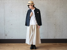 maxi-length pants / beige ▷