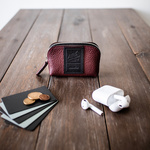【Sサイズ】Leather Pouch Excela Zip エクセラファスナー使用 レザーポーチ【バーガンディー】