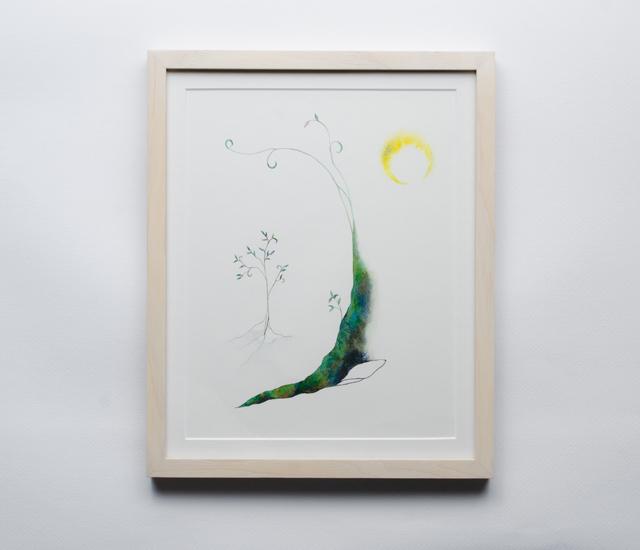 水彩画03/月