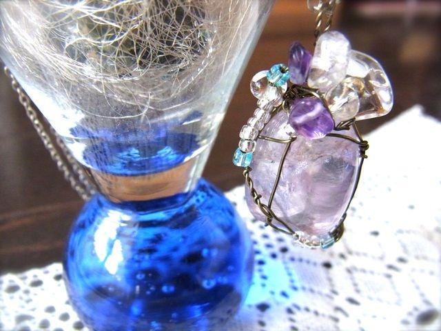 紫の願い/天然石ネックレス