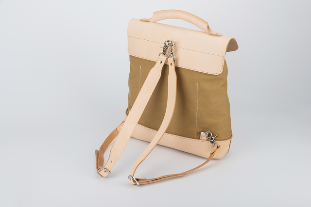 b7c9dc00d37 「帆布×革の組み合わせ」手作りのリュック レディース バッグ かわいい クラシックリュックサック