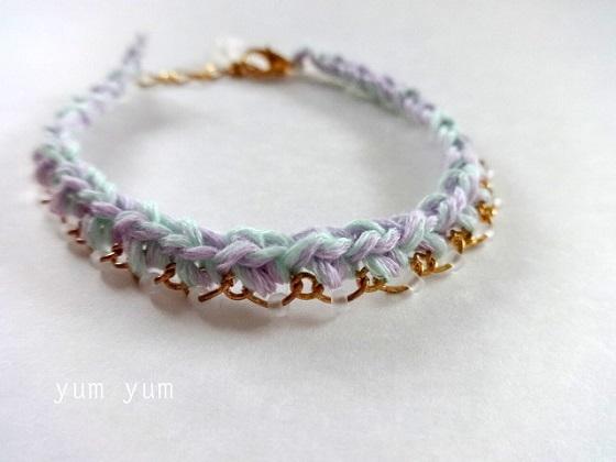 紫陽花色ブレスレット【パープルグリーン】