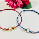 新作*ペアset*twist ring・simple cord anklet or bracelet*11color