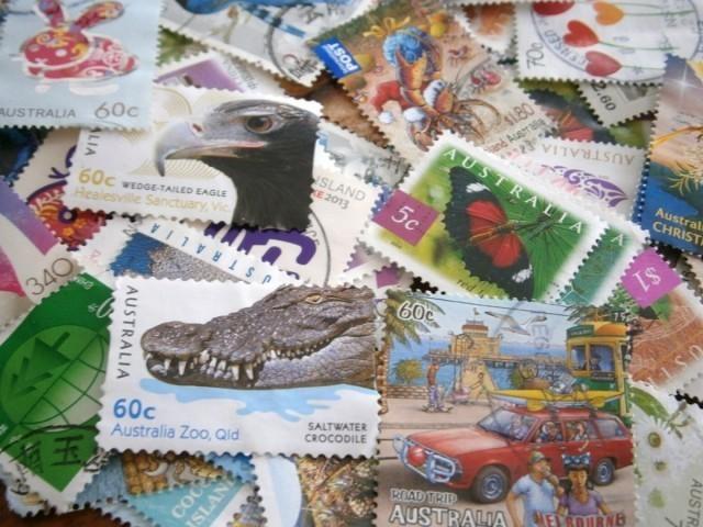 コラージュ用外国切手