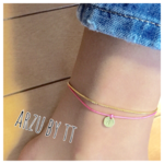 code anklet#name TAG☆gold