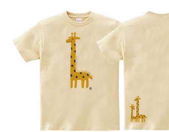 giraffe☆キリン  150.160(女性M.L)Tシャツ【受注生産品】