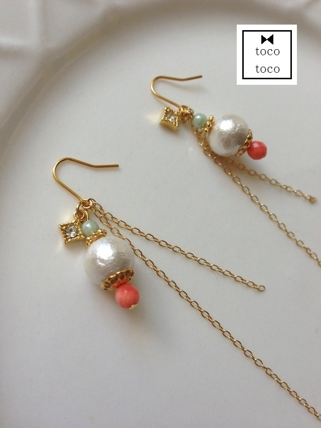 long chain pierce/earring