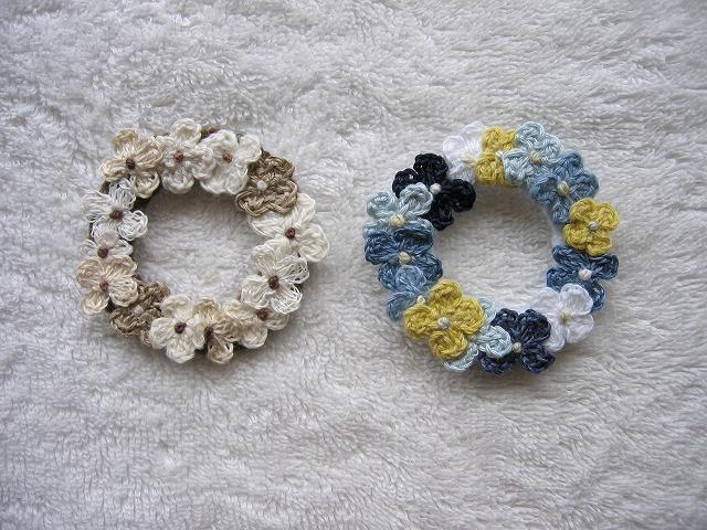 【saqqyさまリクエスト品】 Flower wreath お花リース2点セット